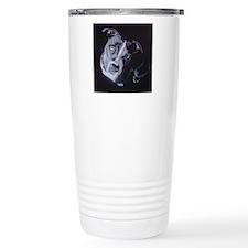 Blue Light-square Travel Mug