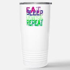 eat sleep dance repeat  Stainless Steel Travel Mug