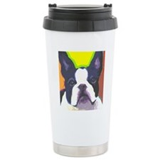 bw large cafe Travel Coffee Mug
