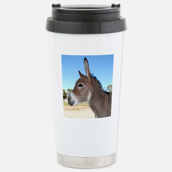 Miniature Donkey Stainless Steel Travel Mug