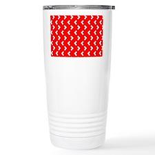 Red Zig Zag Designer Travel Mug