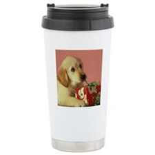 Golden Cmas tile Travel Coffee Mug