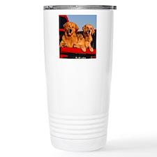 Golden PU tile Travel Mug