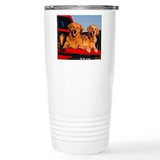 Golden PU mousepad Travel Mug