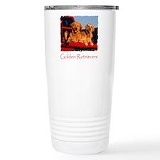 Golden PU shirt Travel Coffee Mug