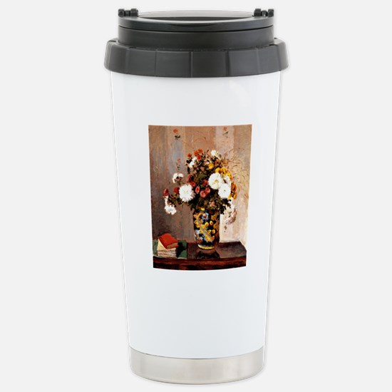 Chrysanthemums in a Chi Stainless Steel Travel Mug