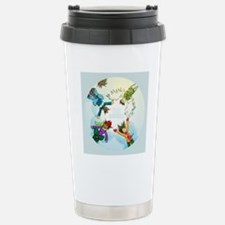 Snow Angels Ornament Stainless Steel Travel Mug