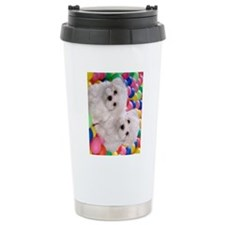 bichon frise ipad Travel Mug