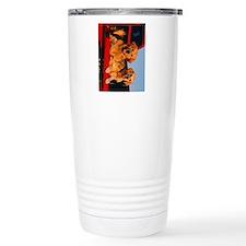golden pu ipad Travel Coffee Mug