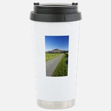 Road and Mountains near Travel Mug