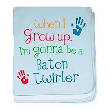 Baton Twirler Grow Up baby blanket