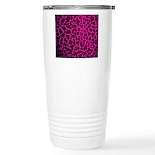 Hot Pink Leopard Travel Mug