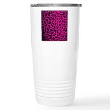 Hot pInk Leopard Travel Coffee Mug