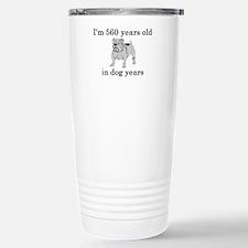 80 birthday dog years bulldog Travel Mug