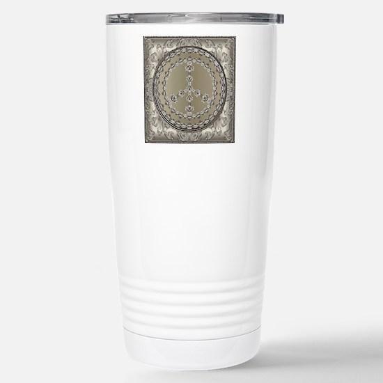 elegant peace 10x10 Stainless Steel Travel Mug