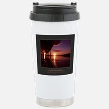 I Live My Dreams With P Stainless Steel Travel Mug
