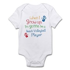 Beach Volleyball Player Grow Up Infant Bodysuit