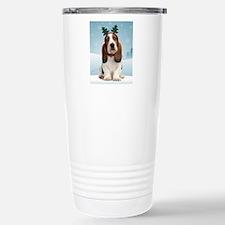 cp_bassetxmasnote Stainless Steel Travel Mug