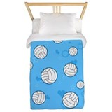 Girls volleyball Luxe Twin Duvet Cover