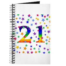 Rainbow Stars 21st Birthday Journal
