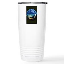 black t-shirt painting  Travel Coffee Mug