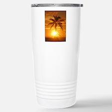 palm sunset Travel Mug