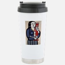 Leger Woman holding a v Travel Mug