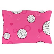 Cute Volleyball Pattern Pink Pillow Case