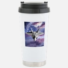 clouds flag and F22 squ Travel Mug
