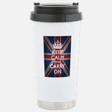Keep Calm and Carry On Stainless Steel Travel Mug