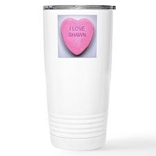 HEART SHAWN Travel Coffee Mug