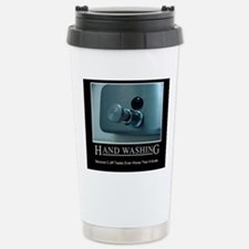 hand-washing-humor-infe Stainless Steel Travel Mug