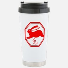 Rabbit_2_red Stainless Steel Travel Mug