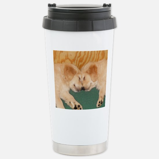Golden Retriever Puppie Stainless Steel Travel Mug
