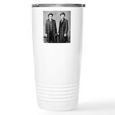 tile coaster two gents  Travel Mug