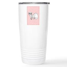 Silver Ferret Pink Star Travel Mug