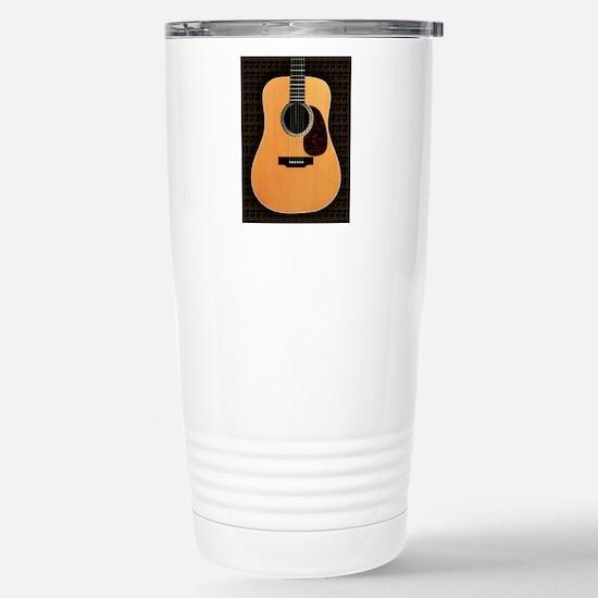 acoustic-guitar-framed  Stainless Steel Travel Mug