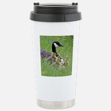 Goslings With Mom Stainless Steel Travel Mug