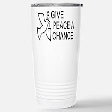 GIVE PEACE A CHANCE Travel Mug