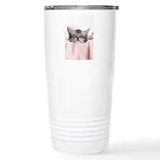 kitty basket slider Travel Mug