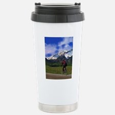 Cycling_the_Rockies Stainless Steel Travel Mug