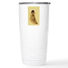 lady with pearls Travel Mug