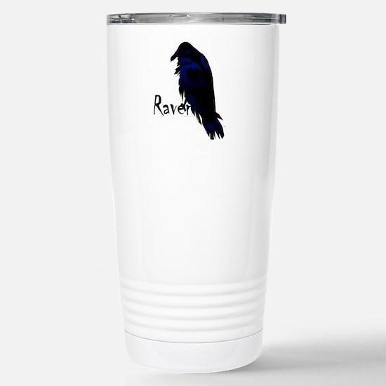 Raven on Raven Stainless Steel Travel Mug
