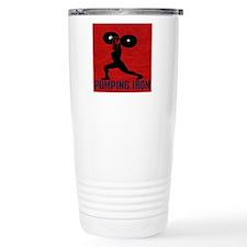 pumping_iron_10by10_red Travel Mug