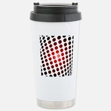 Red Dots In Motion Travel Mug