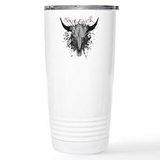 soul ink bull skull Travel Coffee Mug