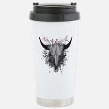 soul ink bull skull Travel Mug