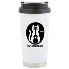 My Cat Has Fleas Ukulel Travel Mug