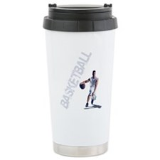 basketball_dribble_wht  Travel Mug
