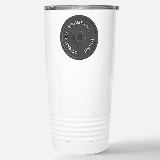 Clock Barbell45lb Stainless Steel Travel Mug
